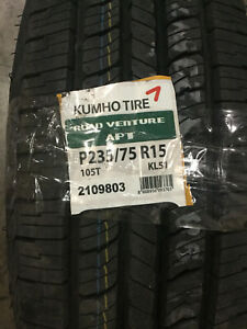 2 New 235 75 15 Kumho Road Venture Apt White Letter Tires