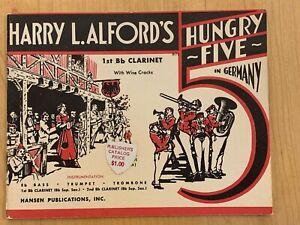 Harry L. Alford#x27;s Hungry Five in Germany 1stBb CLARINET SHEET MUSIC