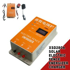 Electric Fence Energizer Charger For Raccoon Dog Horse Cattle W Screen Alarm