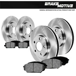 For 2000 2001 2002 2003 2004 Ford F150 4x4 4wd Front rear Rotors Metallic Pads