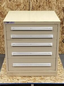 Stanley Vidmar 5 Drawer Cabinet Chest File Tool Storage 28x30x33