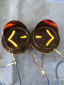 Flush Mount Vintage Arrow Hooded Turn Signal Lights Hot Rat Rod Truck Chevy Reo