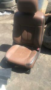 13 Ford F150 King Ranch Front Right Passenger Power Seat Tan Leather