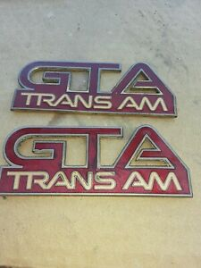 Pontiac Firebird Gta Transam Logos Emblems Badge