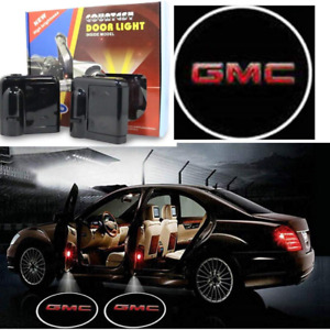 2 X Gmc Car Door Welcome Led Lights Courtesy Projector Ghost Shadow Sticker