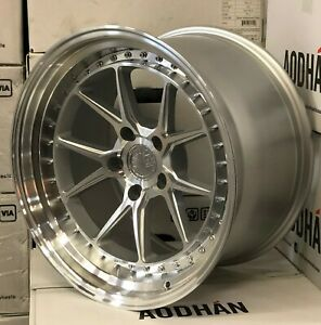 18x9 5 5x114 3 30 Aodhan Ds08 Silver Machined 18 Inch Concave Wheels Set 4