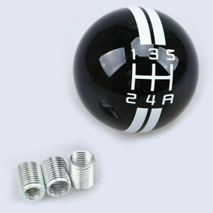 Round Manual 5speed Shift Knob Shifter Lever Black For Ford Mustang Shelby Gt500