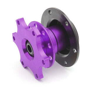 6 Hole Steering Wheel Quick Release Hub Adapter Snap Off Boss Kit Purple