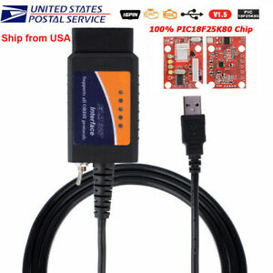 New Usb Modified Obd2 Elm327 Ford Forscan Ms Can Hs Can Mazda Code Reader Scanne