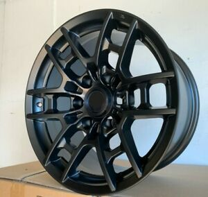 17x8 Matte Black Wheels Fit Toyota 4runner Tacoma Pre Runner 6x139 15 Rims Set