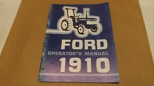 Ford New Holland 1910 Compact Tractor Operator s Manual