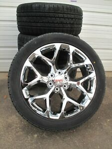 22 New Gmc Yukon Sierra Chrome Wheels 305 40 22 Nexen Tires 5668 Set Of 4