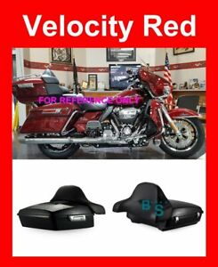 Velocity Red Razor Tour Pak Backrest For Harley Street Electra Road Glide 2014