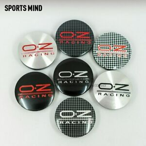 4pcs 56mm Racing Car Wheel Center Hub Caps Badge Emblem Sticker Fits For Oz