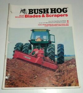 Bush Hog Rear Mounted Blades 5 10 Scrapers 4 5 12 Sales Brochure Bh 20