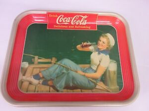 AUTHENTIC COKE COCA COLA 1940  ADVERTISING SERVING  TRAY  228
