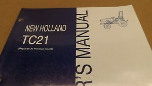 New Holland Tc21 Compact Tractor Operator s Manual Specs Maintenance