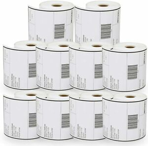 6 Rolls Dymo 4xl Direct Thermal Shipping Labels 4x6 1744907 Compatible 220 roll