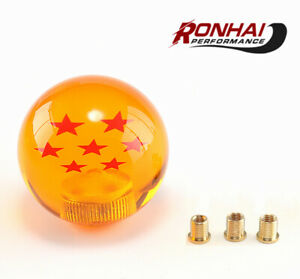 Universal Dragon Ball Z Yellow 7 Star 54mm Cars Shift Knob With Adapters