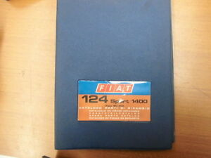 Fiat 124 Sport 1400 2 Series Coupe Spider White Bs Catalogue Spare Parts