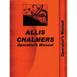 Operator s Manual 185 Allis Chalmers 185 185