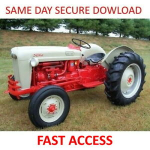 1953 1959 Ford Naa Tractor Service Manuals 600 601 800 801 2000 4000 Fast Access