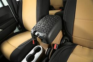 Rugged Ridge Center Console Arm Rest Cover Black For 11 17 Jeep Wrangler Jk