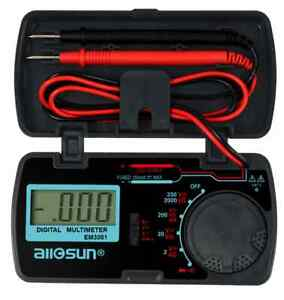 Pocket Digital Multimeter Auto Tester Ac Dc Dmm Amp Ohm Diode Continuity Lcd
