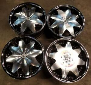 Lexani Lx2 Wheels Rims 20 Inch 6x139 7 15mm Machine Chrome Lip