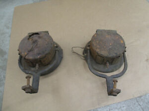 Antique Car Black And Brass Headlamps Mt 4616