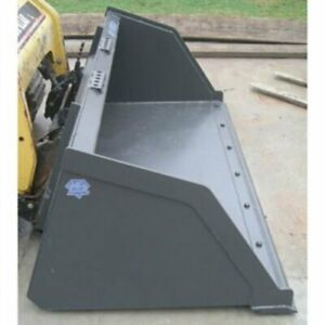 Blue Diamond Skid Steer Snow Mulch Bucket 84 Width