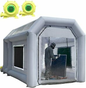 13x8 2x8 2ft Inflatable Paint Booth Portable Auto Spray Tent With A 750w Blower