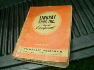 1950 No82 Lindsay Bros Farm Equipment Brochure Sales Catalog Cf169