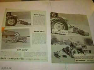 Ford Tractor Arps Blades New Holstein Wi Catalog Manual Sales Brochure Cf1044
