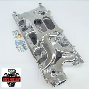 Small Block Ford Air Gap Polished Aluminum Intake Manifold 289 302 Dual Plane