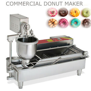 Usa Sale Auto Doughnut Hole Donut Ball Maker Machine Fryer W 3 Mold Fast Ship
