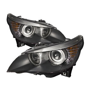 Halogen Headlight Left Driver Right Passenger Pair For 08 10 Bmw 5 Series E60