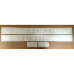 F507h Hood Decal Set New Fits Ford Fits New Holland Tractor Model 8600