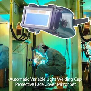 Solar Auto Darkening Eye Cover Welding Helmet Eye Glasses Goggles For Welde