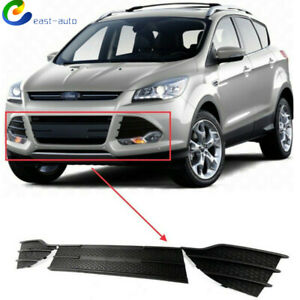 For Ford Escape 2013 2016 3 Pcs Front Grille Grill Black Lower And Upper Cover