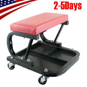 Best Mechanics Rolling Shop Seat Creeper Stool Tool Storage Tray Useful