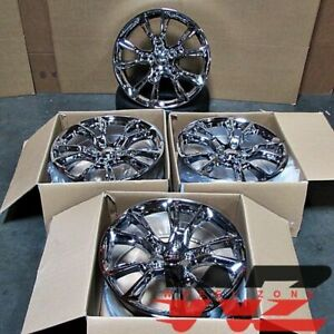 20x8 5 Chrome Wheels Fit Jeep Grand Cherokee 5x127 42 Rims 20 Inch Set 4