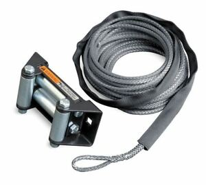 Warn 77835 Synthetic Rope Conversion For Rt40 7 32 X 50 With Roller Fairlead