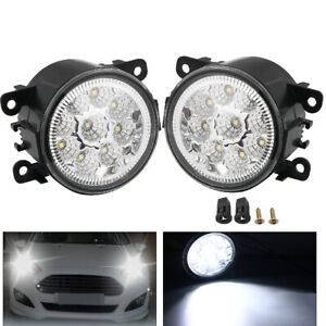 2x 9 Led Fog Light For Ford Explorer Focus Fusion Mustang 4f9z15200aa Oe Quality