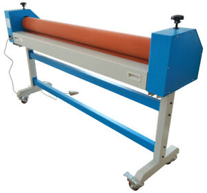 63in 110v Automatic Manual Cold Laminating Machine Metal Construction 50w