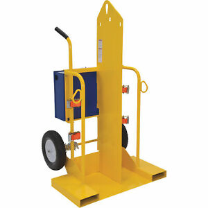 Vestil Welding Cylinder Torch Cart W fork Pocket 500lb Cap Powder coat Cyl 2 ff