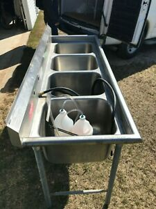 Stainless Steel 4 Compartment Sink