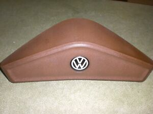 Vintage Vw Mk1 Brown Thick Horn Button Pad For Steering Wheel Good Used