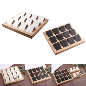 24 Pieces Diy Handmade Paper Earring Holder Cards W Bamboo Tray Jewelry