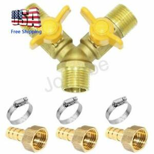 3 Way Shut Off Ball Valve 1 2 Hose Barb 2 Switch Brass Y Shaped Valve
